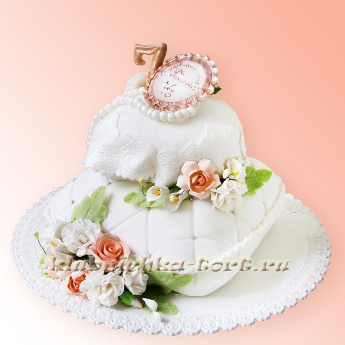 Свадебный торт Подушечки 1400р/кг