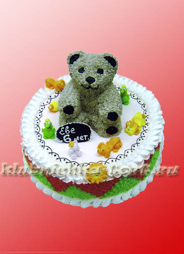 Детский торт мишка 850 р кг фигурки