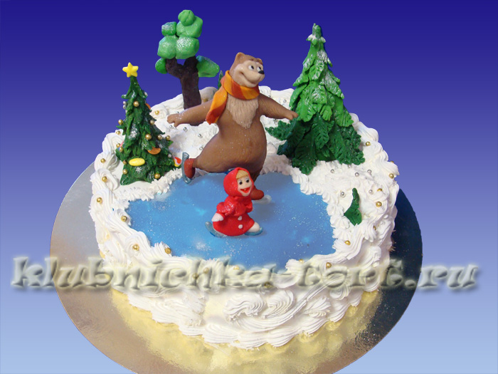 Торт Маша и Медведь.